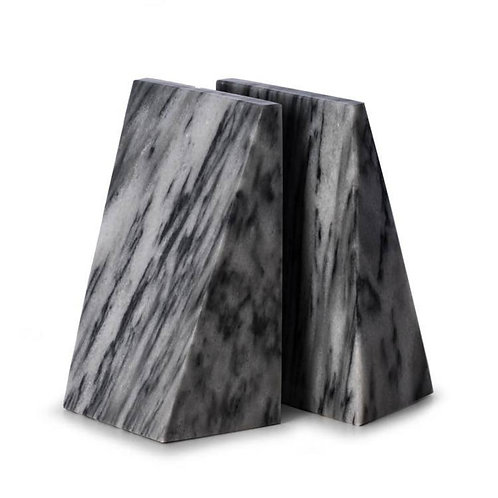 Gray Marble Wedge Bookend