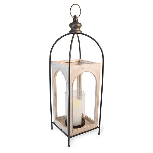 Wood/Metal Lantern - Large