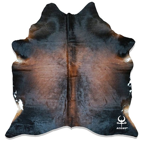 Black and Brown Brazilian Cowhide