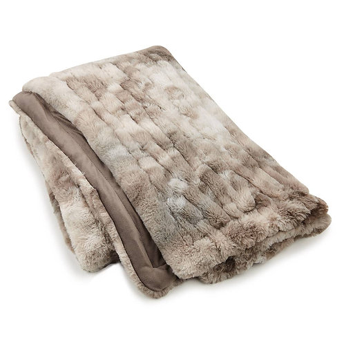 Grey Throw Faux Rabbit Fur
