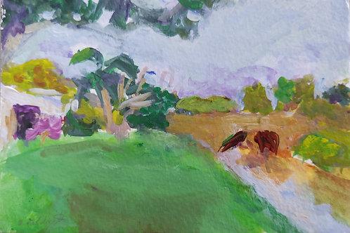 Tropical Bridge Original Painting