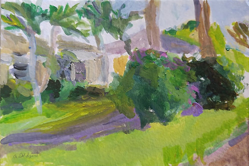 Tropical Afternoon original painting