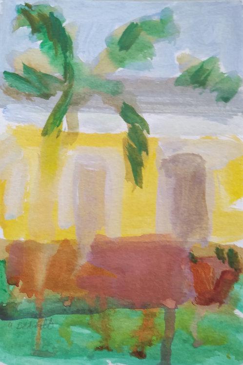 My Backdoor original painting