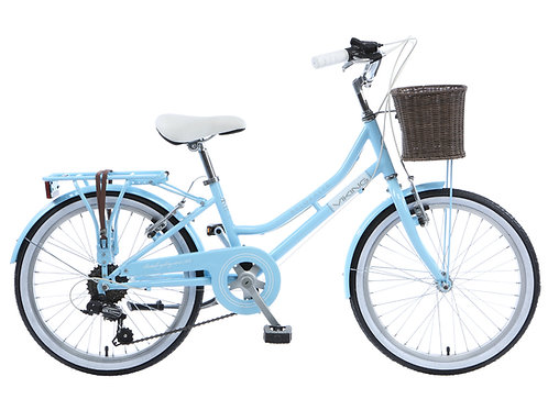 "Viking Belgravia Girls Traditional Heritage 20"" Wheel 6 Speed Bike Blue"