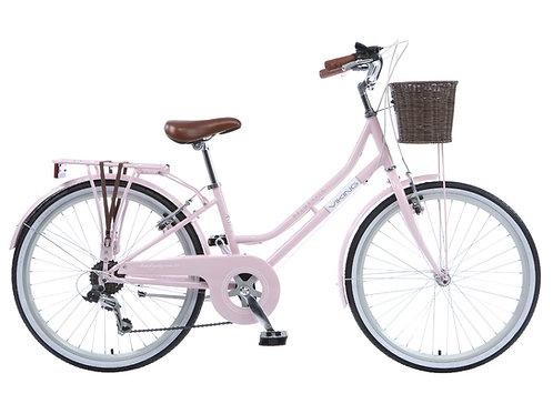 """Viking Belgravia Girls Traditional Heritage 20"""" Wheel 6 Speed Bike Pink"""
