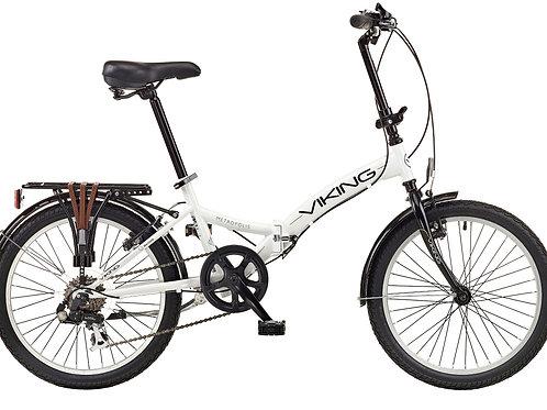 """Viking Metropolis 20"""" Wheel 6 Speed Folding Bike White"""