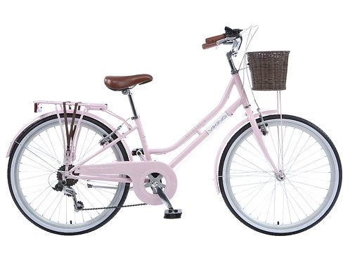 """Viking Belgravia Girls Traditional Heritage 24"""" Wheel 6 Speed Bike Pink"""