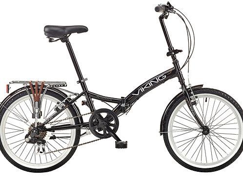 """Viking Metropolis 20"""" Wheel 6 Speed Folding Bike Black"""