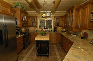 Interior of a log home built in Pagosa Springs