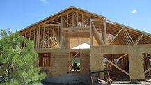 Home under contruction in Pagosa Springs, Colorado