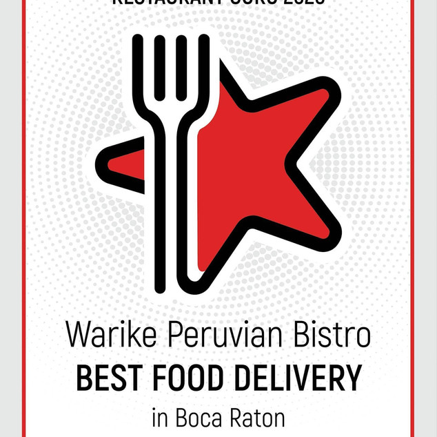 Best Food Delivery for 2 years in a row!