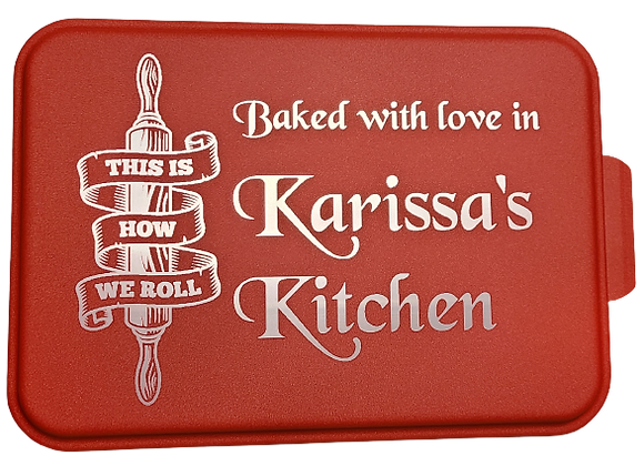 Engraved Baking Pan - How We Roll