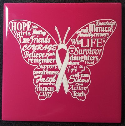Butterfly Breast Cancer Awareness Ribbon