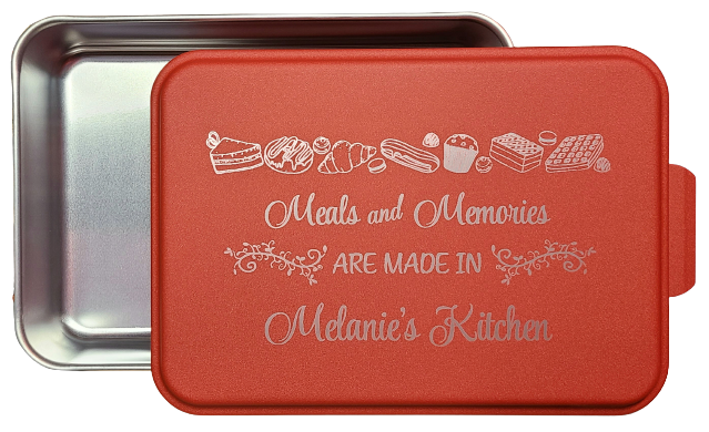 Engraved Baking Pan - Meals and Memories