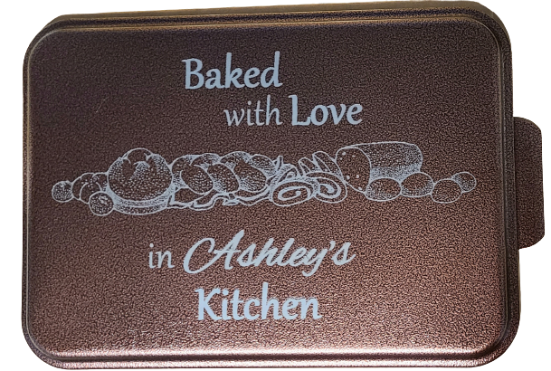 Engraved Baking Pan - Baked With Love