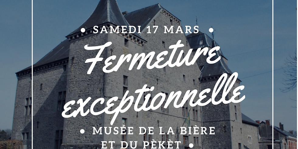 Fermeture exceptionnelle du Musée de la Bière et du Pèkèt