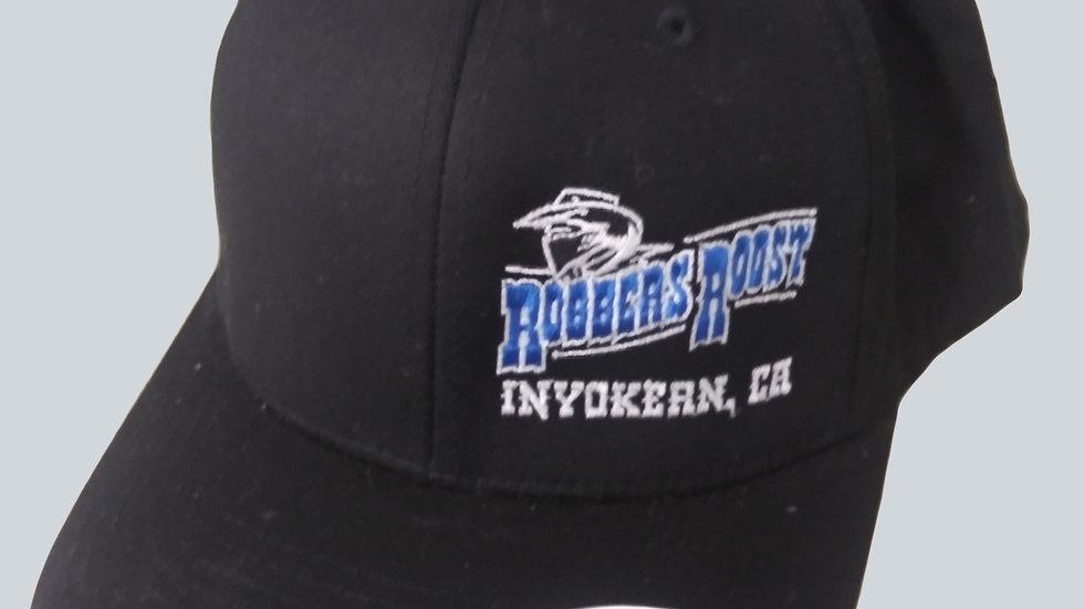 BLACK FLEX FIT CAP - BLUE EMBROIDERY