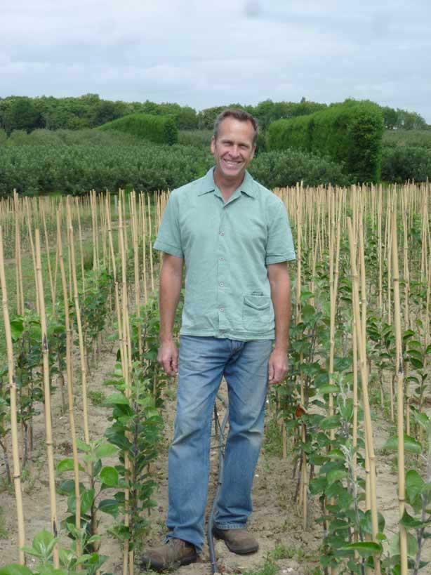 Mark Mount in his cider tree nursery