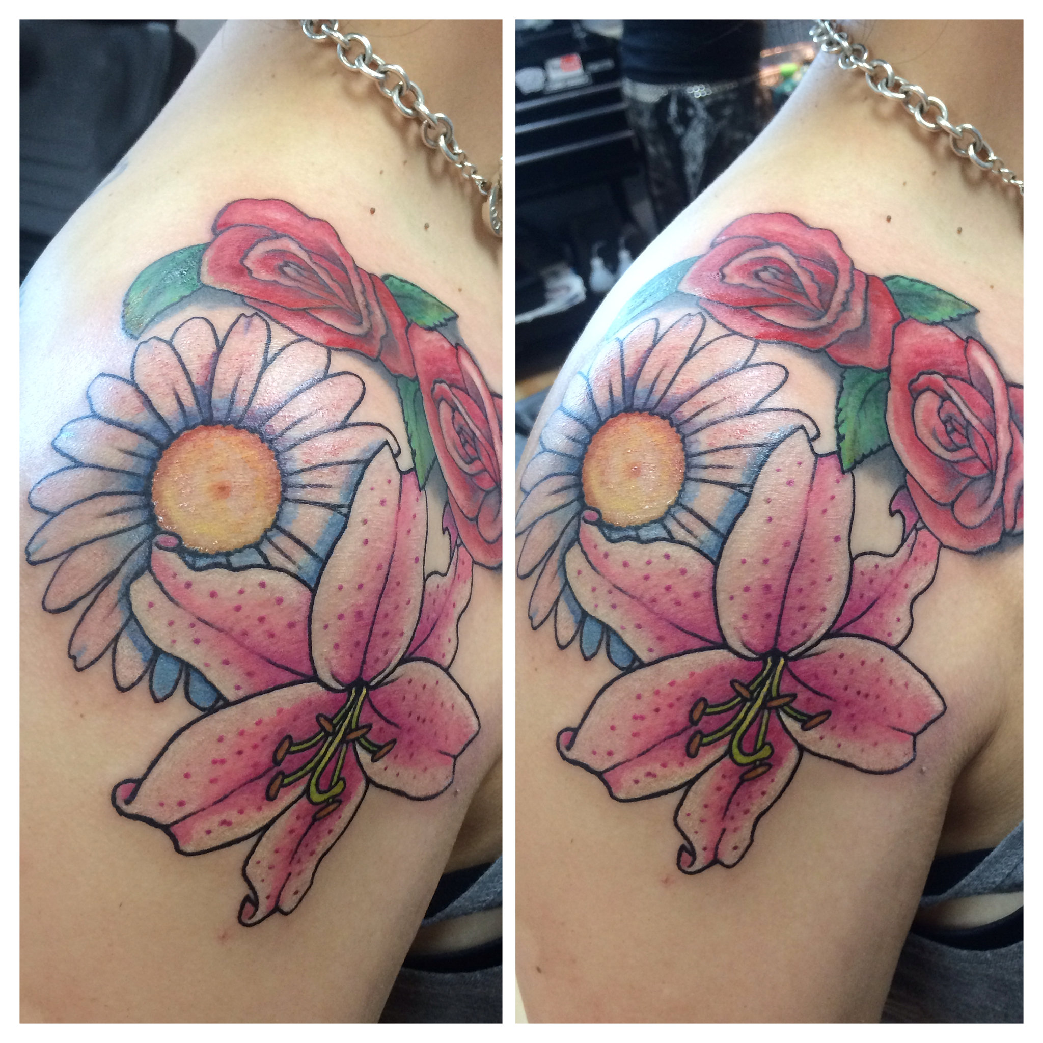 allegory tattoo san diego daisy and lily a simple daisy and lily tattoo roses not done by narnia