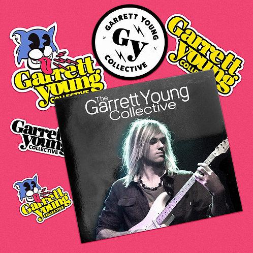 Garrett Young Collective CD & Sticker BUNDLE