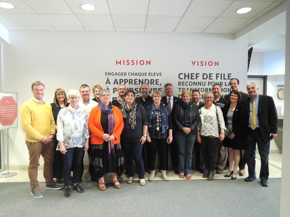la délégation belgo-ontarienne
