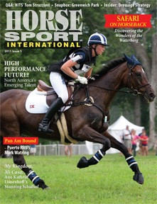Kendyl and Ever So Lucky on the cover of Horse Sport International