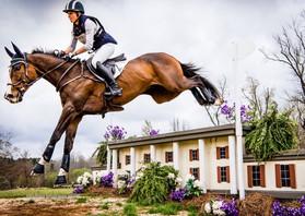 Kendyl riding her OTTB across the WEG course