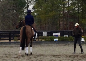 Kendyl participating in a high performance triaining session with Captain Mark Phillips