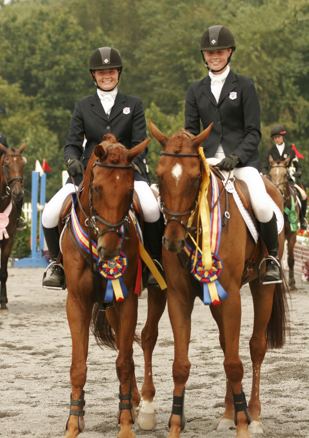 Anisa and Kendyl winning NAJYRC medals in 2007
