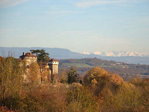 Serrières Castle and countryside