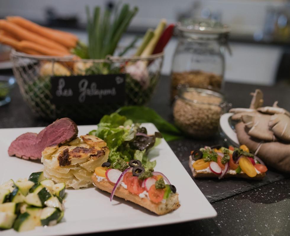 table d'hôte produits frais et cuisinés maison