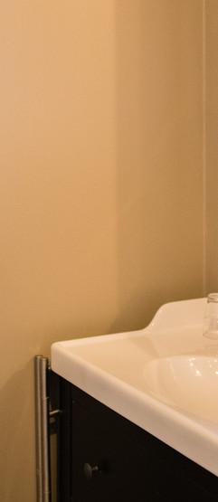 Salle de douche dans la chambre, double vasque