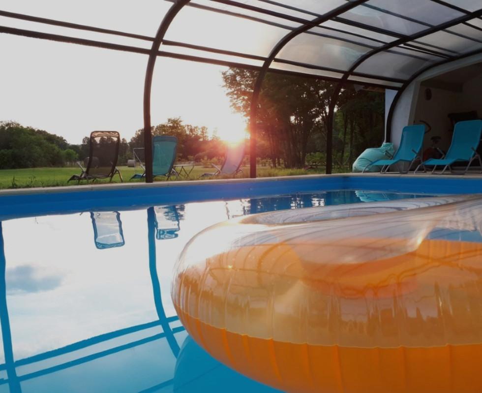 piscine couverte ouverte en saison