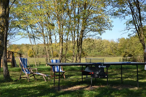 jeux extérieurs ping-pong trampoline