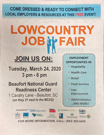 Beaufort March 24 Career and Resource Fa