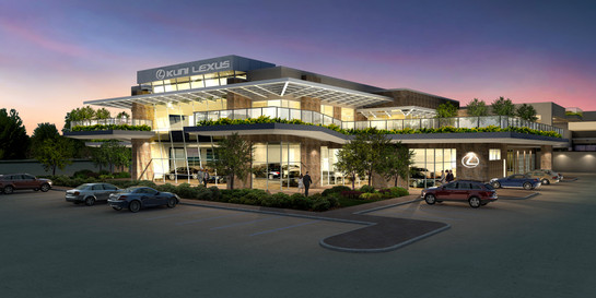 Kuni Lexus Dealership - Evening