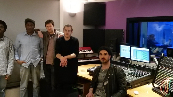 Recording Session in London for Adam Haraszti Project