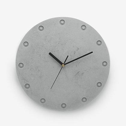 שעון בטון אפור חלק נורדי לעיצוב פנים הבית