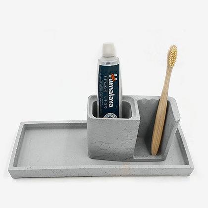 מעמד למברשות שיניים מבטון