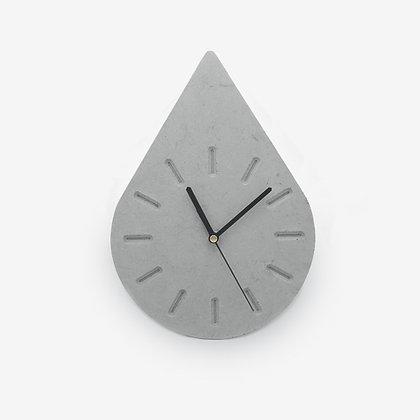 שעון בטון טיפה מודרני בטון חלק אפור לבית למשרד