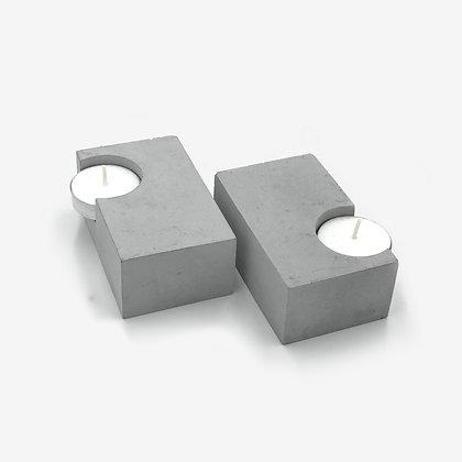 זוג פמוטים לשבת נר בטון