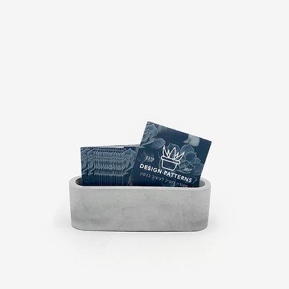 מחזיק כרטיסי ביקור מבטון לעיצוב המשרד הייטק