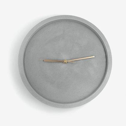 שעון קיר לחדר השינה או הסלון שעון בטון מנגנון שקט לעיצוב פנים ועיצוב
