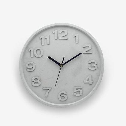 שעון בטון מספרים גדולים שעון קיר לעיצוב הבית עיצוב פנים
