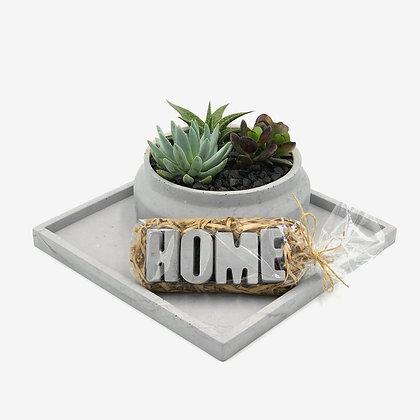 סט בטון מגש בטון עציץ בטון אותיות בטון לעיצוב הבית עיצוב פנים