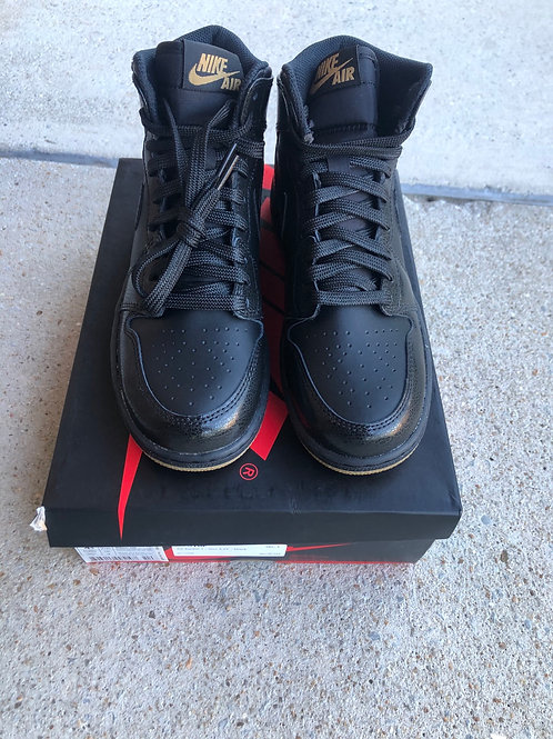 "Air Jordan Retro 1 ""Black bottoms"" GS"