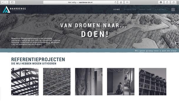 Web Design - Naardse Bouwmaatschappij