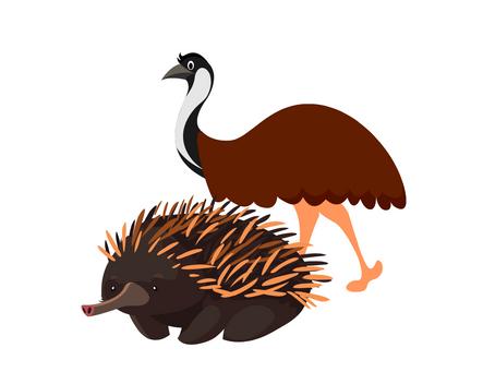 Australian Animals - Emu & Echidna