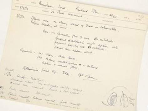Lord Lucan plastic surgeon medical note auctioned