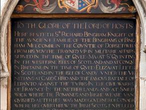 Westminster Abbey - Sir Richard Bingham Coat of Arms Tablet